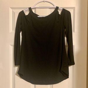 Gage USA medium cold shoulder black top